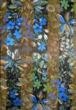 blue floral scarf closeup