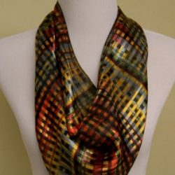 bright multi plaid scarf