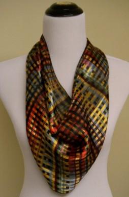 bright multi plaid scarf